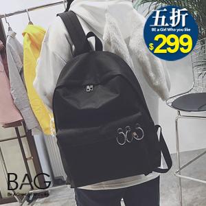 B.A.G*現貨秒發*【BT-CCB】韓版帥氣圓環設計後背包(現+預)-4色
