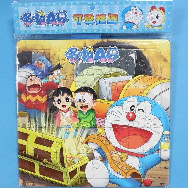哆啦A夢拼圖 小40片拼圖 DOR-07 幼兒卡通拼圖(中方型/加厚)MIT製/一個入{促80}~正版授權~