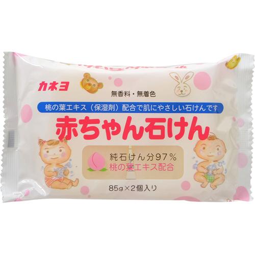 日本無添加桃葉保濕嬰兒純皂