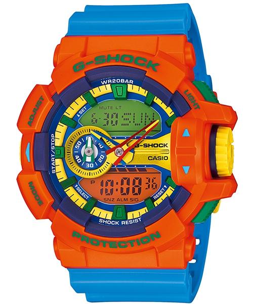 國外代購 CASIO G-SHOCK GA-400-4A 雙顯大錶面  運動防水手錶腕錶電子錶男女錶 橘樂高