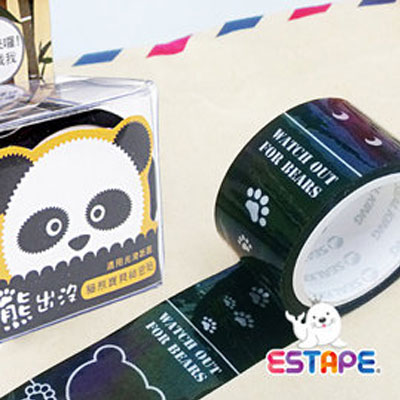 王佳膠帶 ESTAPE 貓熊保密直拉易撕貼SKP-330001 / 盒
