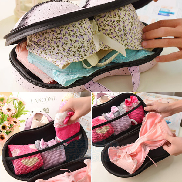 日韓熱銷 內衣 BRA 比基尼 胸罩 拉鍊收納盒/萬用旅行包 (1入)【巴布百貨】