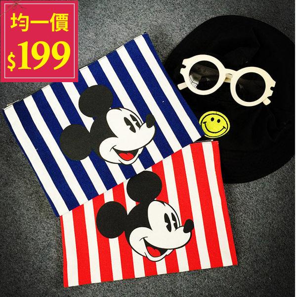 米奇信封包-韓版超可愛卡通米奇大容量手拿信封包【AN SHOP】