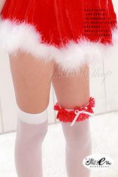 *流行E線* 【B110】加分配件♥紅色蕾絲白蝴蝶結大腿帶
