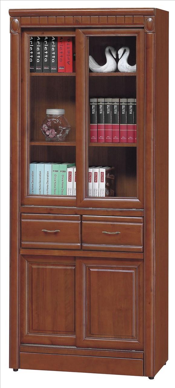 【石川家居】EF-252-2 建霖樟木3尺推門中抽書櫃 (不含其他商品) 需搭配車趟