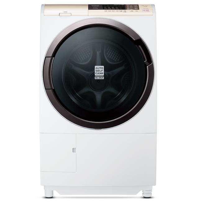 【日立HITACHI】日本原裝。11kg窄型化風熨斗滾筒式洗脫烘。左開香檳白/(SFSD2100A/SFSD2100A_WH)