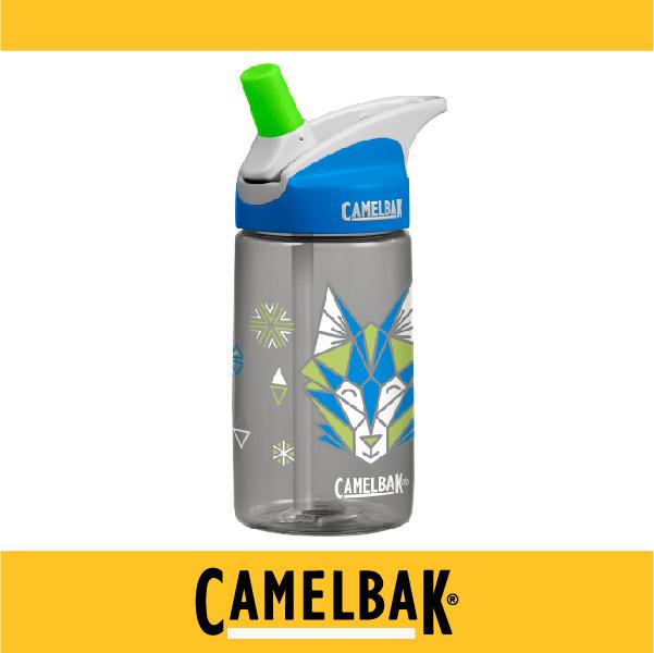 萬特戶外運動-CamelBak 美國補水專家 2016新品 400ml兒童吸管運動水瓶 CB54179 不溢漏 專治不愛喝水的小孩 (帥氣灰狼)