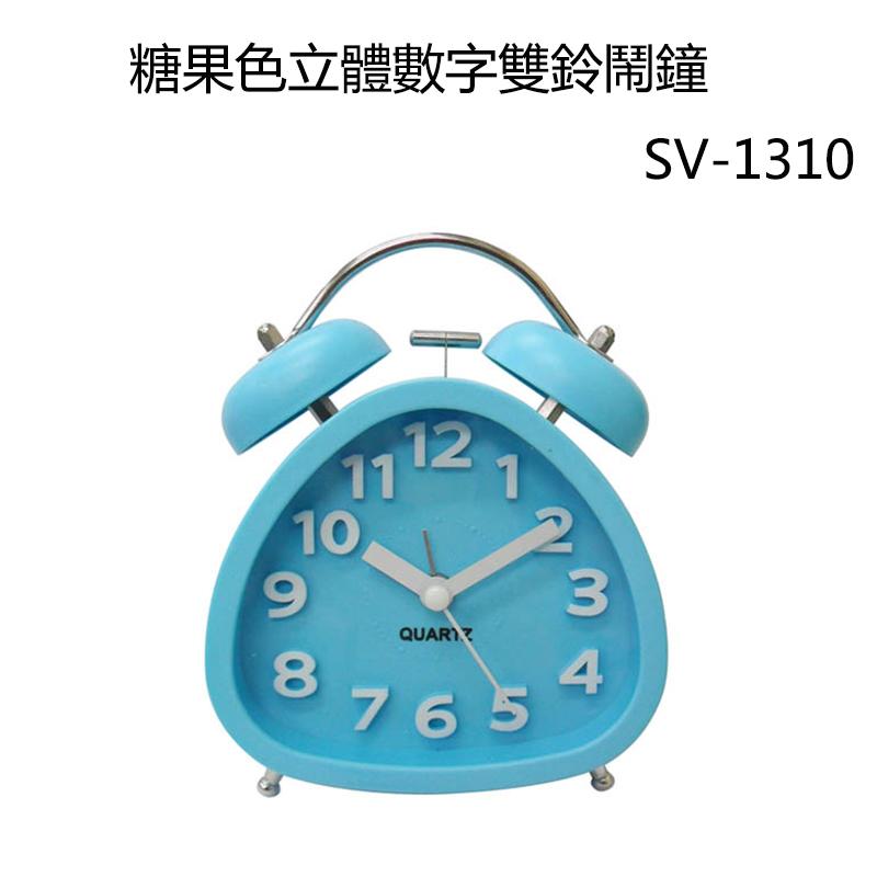 小玩子 無敵王 可愛 糖果色 超靜音 鬧鐘 飯糰 雙鈴 活力 小巧 SV-1310