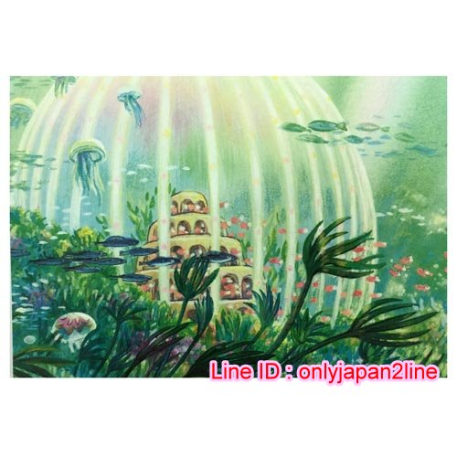【真愛日本】16101100036三鷹美術館限定明信片-波妞海中農場    宮崎駿  美術館限定  明信片  日本帶回