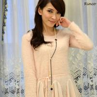 ☆~Rinco~☆戀冬派對 優雅氣質經典山茶花黑白珍珠串Y字鍊