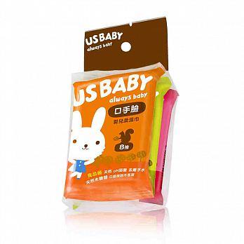 【迷你馬】US BABY 優生 口手臉嬰兒濕巾(8抽X3入)