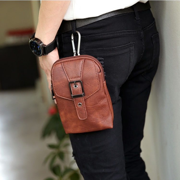 Mao  最新款時尚經典5.5寸手機包腰包多功能運動掛包單肩包