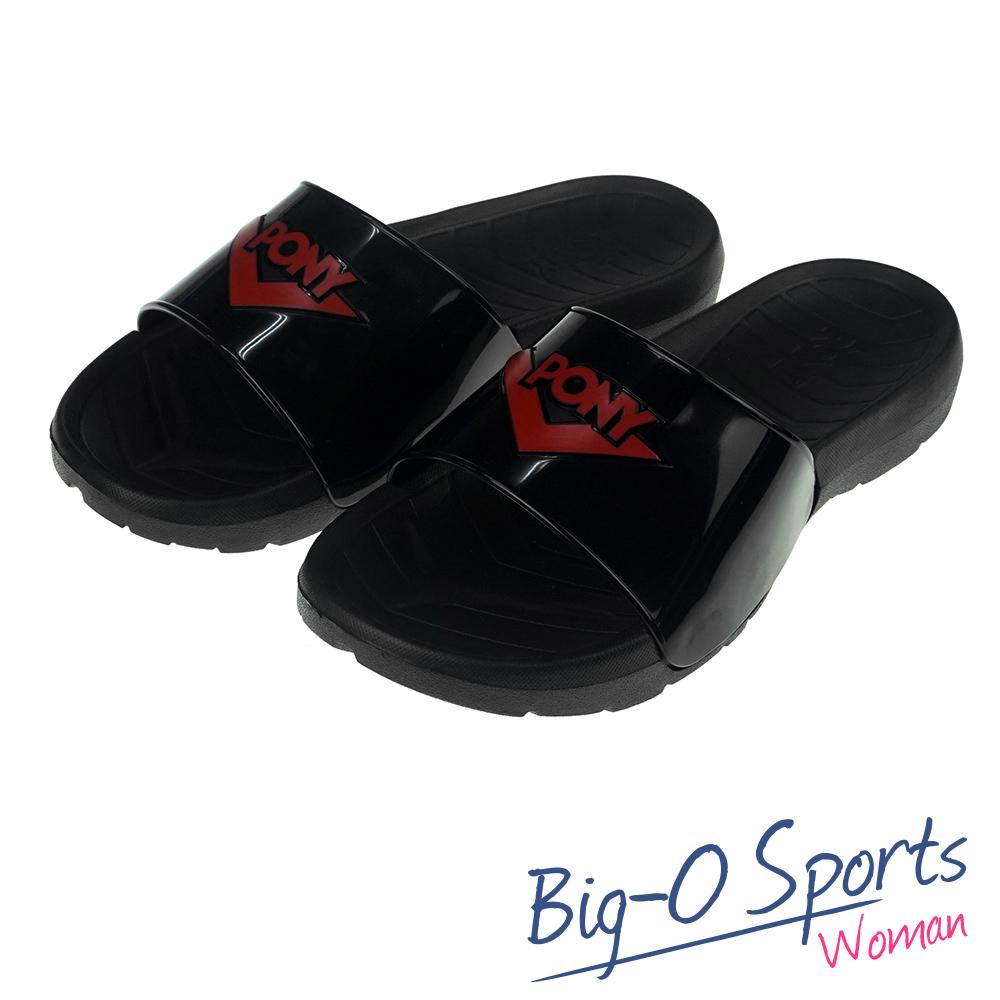 秒殺新款!!!  PONY 運動拖鞋拖鞋 防水  情侶款  62U1SL63BK Big-O Sports
