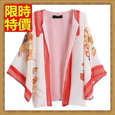 和服外套 和風女罩衫-日式開衫雪紡歐美風防曬小外套68af47【日本進口】【米蘭精品】