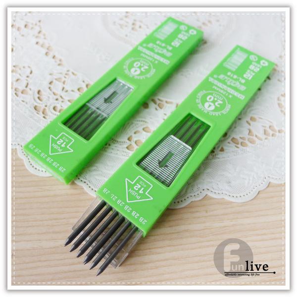 【aife life】2.0mm自動鉛筆筆芯-12入/2B鉛筆/免削鉛筆/工程筆/粗筆芯/製圖鉛筆/考試 試卷/繪圖/素描