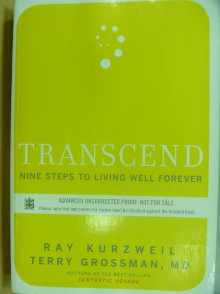 【書寶二手書T5/原文小說_ZKW】Transcend Nine Steps to Living well…