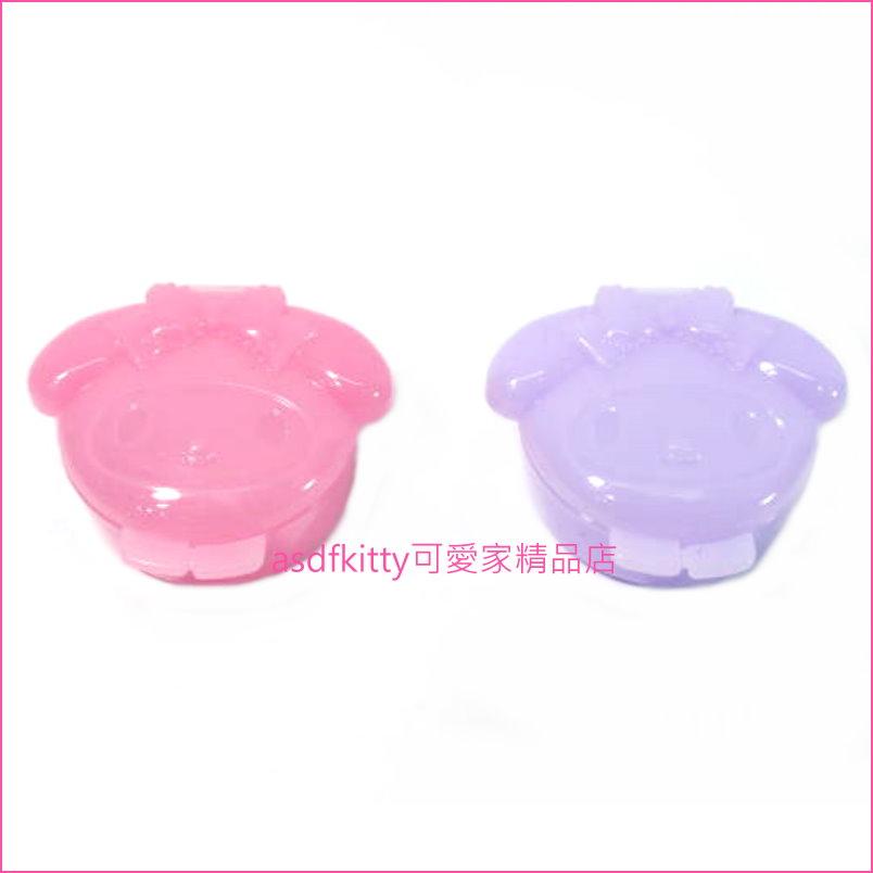 asdfkitty可愛家☆美樂蒂2入 可攜式醬料罐 沙拉盒-也可當飾品盒歐-日本正版商品