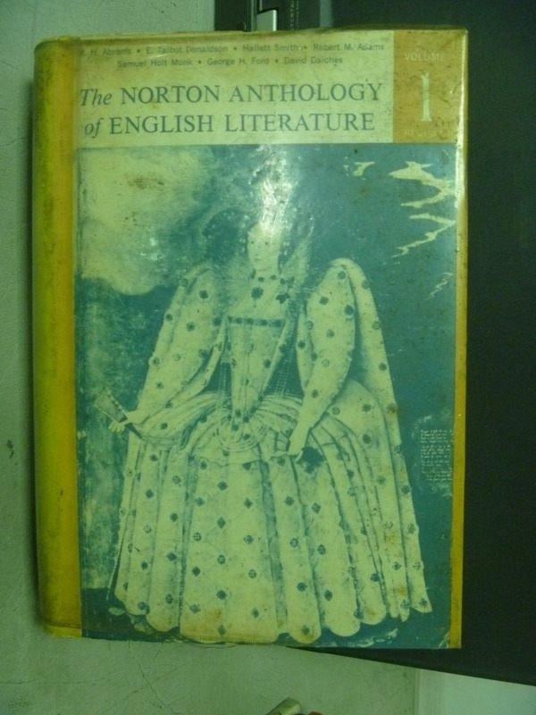 【書寶二手書T8/原文小說_KSV】The Norton Anthology of English…_民60