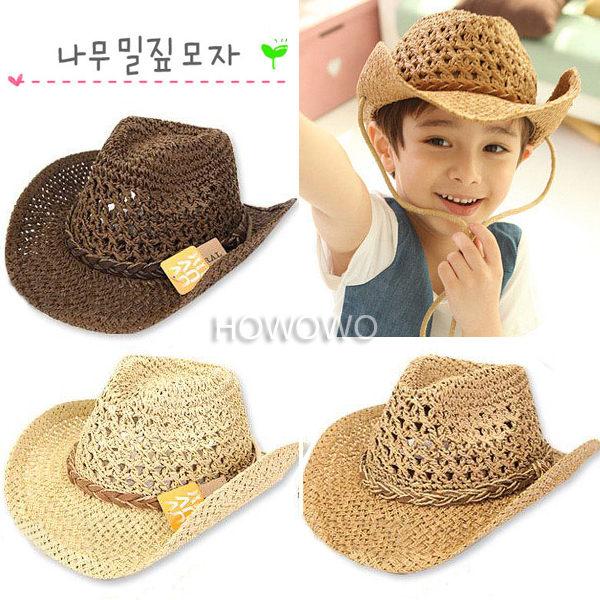 寶寶帽 西部牛仔手工草帽 遮陽帽 童帽 小禮帽 防曬必備 BU291