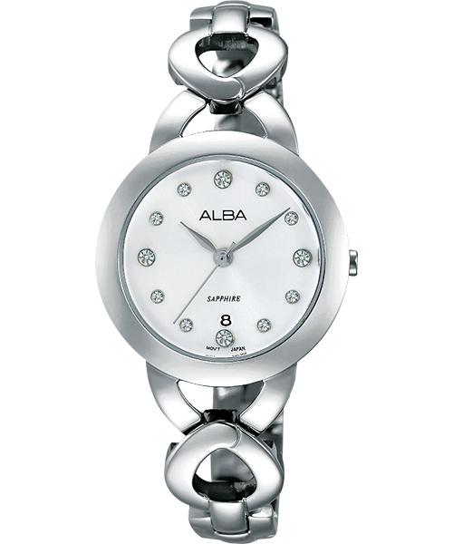 ALBA VJ22-X216S(AH7J27X1)水晶時尚淑女腕錶/白面28mm