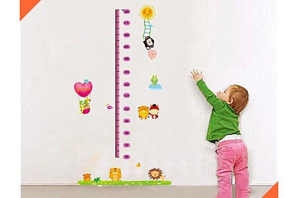 BO雜貨【YV2013】可移動壁貼 牆貼/身高尺壁貼/兒童壁貼 兒童房設計 動物身高尺