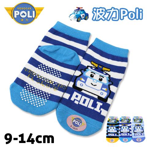 直版童襪 救援小英雄波力 波力 警車條紋款 台灣製 POLI