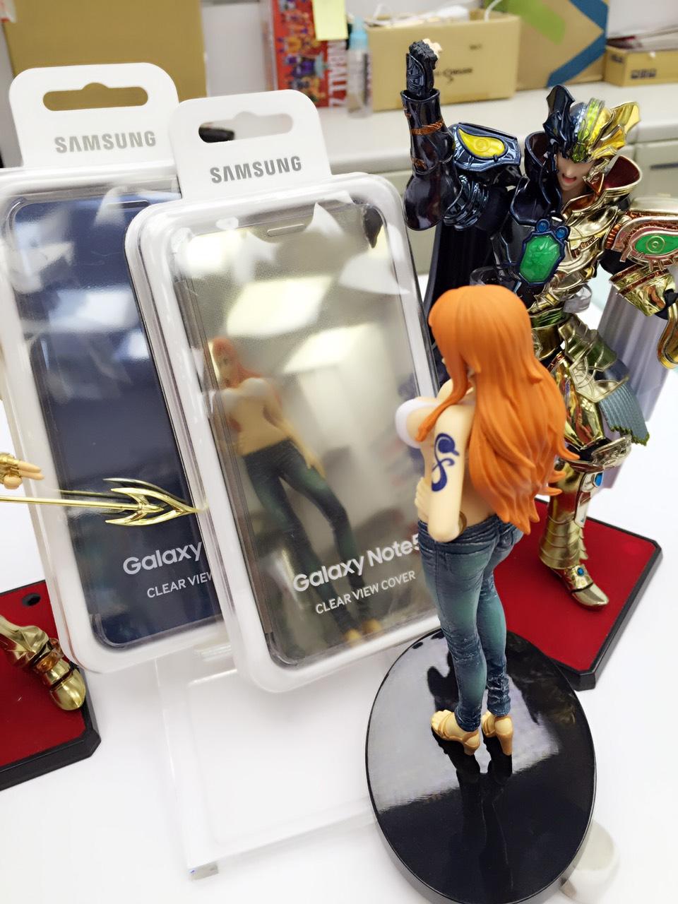 【鐵樂瘋3C 】(展翔)● Samsung Note5 原廠全鏡面感應皮套 時尚高質感