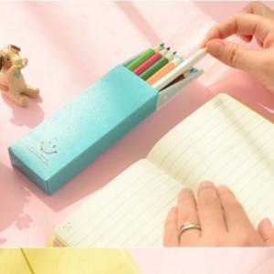 美麗大街【BF091E20E8】微笑推蓋文具盒學習用品鉛筆盒