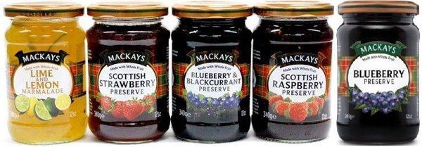 蘇格蘭梅凱 檸檬萊姆果醬/草莓果醬/藍莓黑醋栗果醬/覆盆莓果醬/藍莓果醬 340g  英國原裝