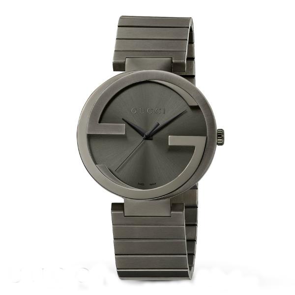 Gucci 古吉YA133206經典黑雙G時尚腕錶/黑面42mm