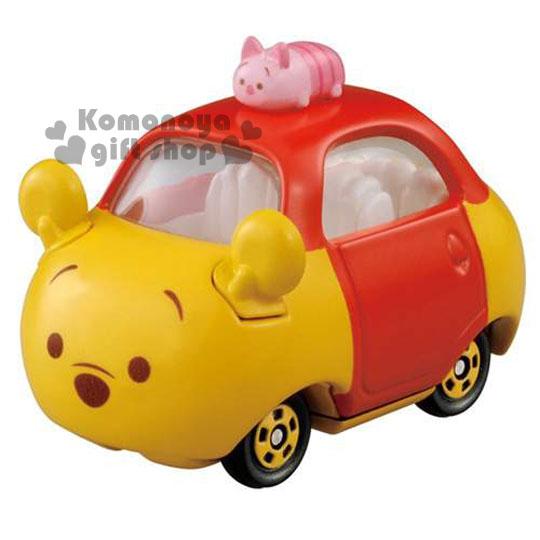 〔小禮堂〕迪士尼 TSUM TSUM 小熊維尼 TOMICA小汽車《黃.小豬.DMT-05.頂端款》經典造型值得收藏