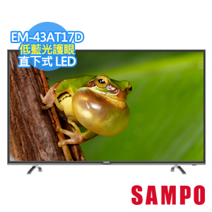 ★杰米家電☆SAMPO 聲寶 43型低藍光護眼系列LED EM-43AT17D