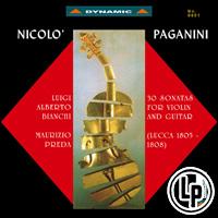 帕格尼尼:小提琴與吉他奏鳴曲1 Nicolo Paganini: 30 Sonatas for violin and guitar (Sonate di Lucca 1805-1808) (2Vinyl LP)【Dynamic】