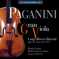 帕格尼尼:我的阿瑪悌中提琴 Gran Viola: Luigi Alberto Bianchi plays the 1595 Amati Viola (CD)【Dynamic】