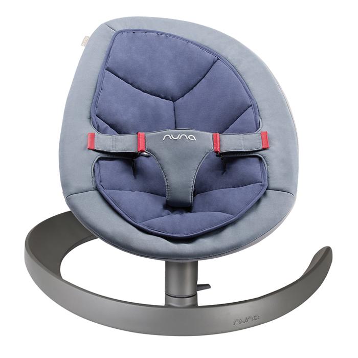 NUNA - Leaf Curv搖搖椅 (藍紫) 贈品牌手提袋+可愛玩偶吊飾,費雪聲光安撫長頸鹿!
