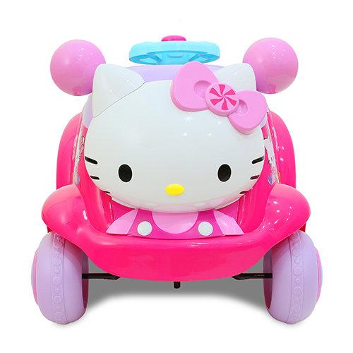 【淘氣寶寶】Hello Kitty電動車/可遙控/正版授權/兒童電動車/騎乘【贈:天然草本抗菌洗手乳250ml/原價399元】商標設計版權經過授權
