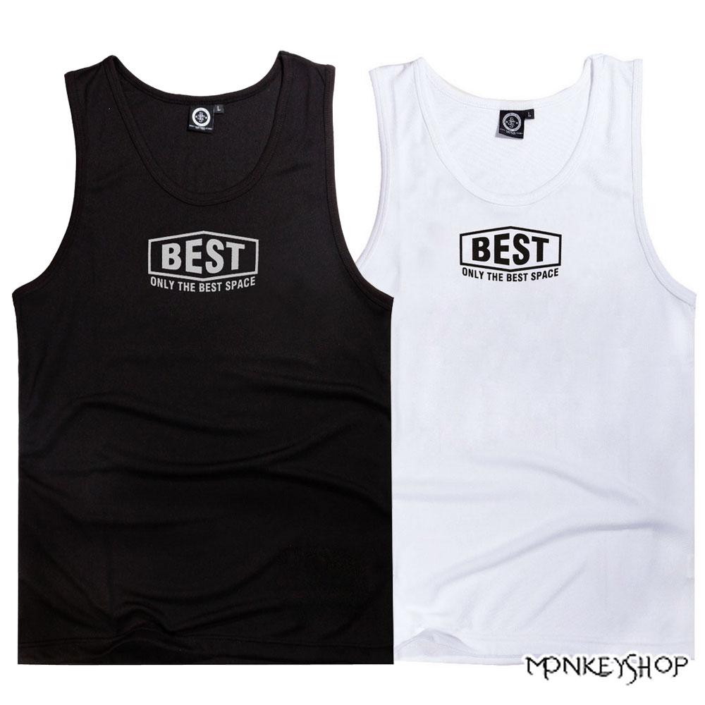 【BSG0681】韓式潮流簡約涼爽款字母印花網眼球衣背心-2色 《Monkey Shop》