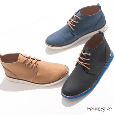 【FKP96】韓版設計個性紳士風中筒休閒皮鞋 雅痞時裝 就愛MIT台灣製 3色《Monkey Shop》
