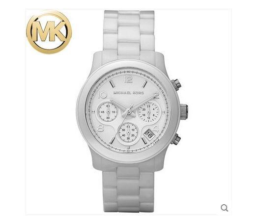 美國Outlet正品代購 MichaelKors MK 陶瓷 水鑽 三環 手錶 腕錶 MK5161