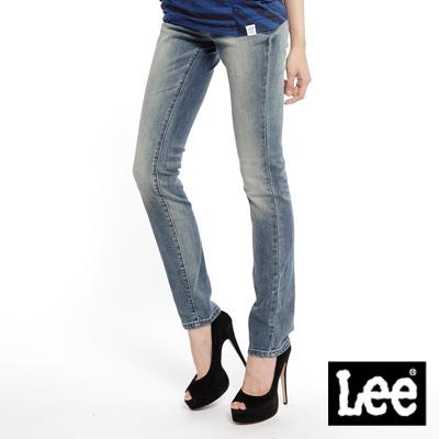 【Super Sales 褲款下殺↘2.5折】LEE Diamond Cut  Ana 488 緊身直筒牛仔褲 -女款(中淺藍)