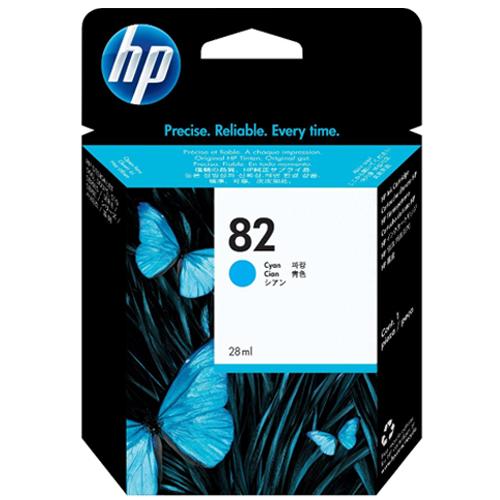 【HP 墨水匣】 C4911A /NO.82 繪圖機青藍色原廠墨水匣
