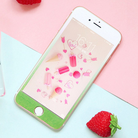 iPhone 7/7 Plus 漸層珠光鋼化玻璃保護貼 3D弧面 超薄軟邊 亮面 滿版 全包覆 全屏 保護膜 蘋果7 i7【N202192】