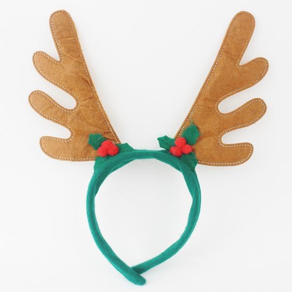 小咖啡聖誕鹿角 聖誕飾品髮箍(咖啡色.絨布面)/一個入{促40}聖誕鹿角髮夾頭飾 麋鹿角 聖誕頭圈~5413