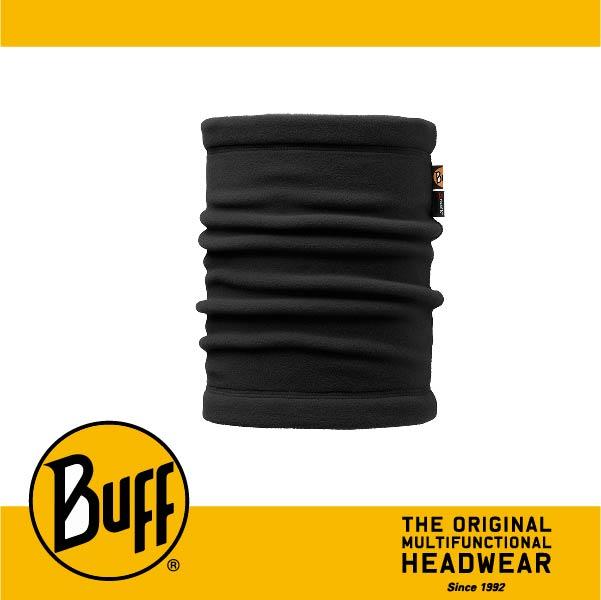BUFF 西班牙魔術頭巾 POLAR保暖系列 領巾 [黑色素面] BF107921