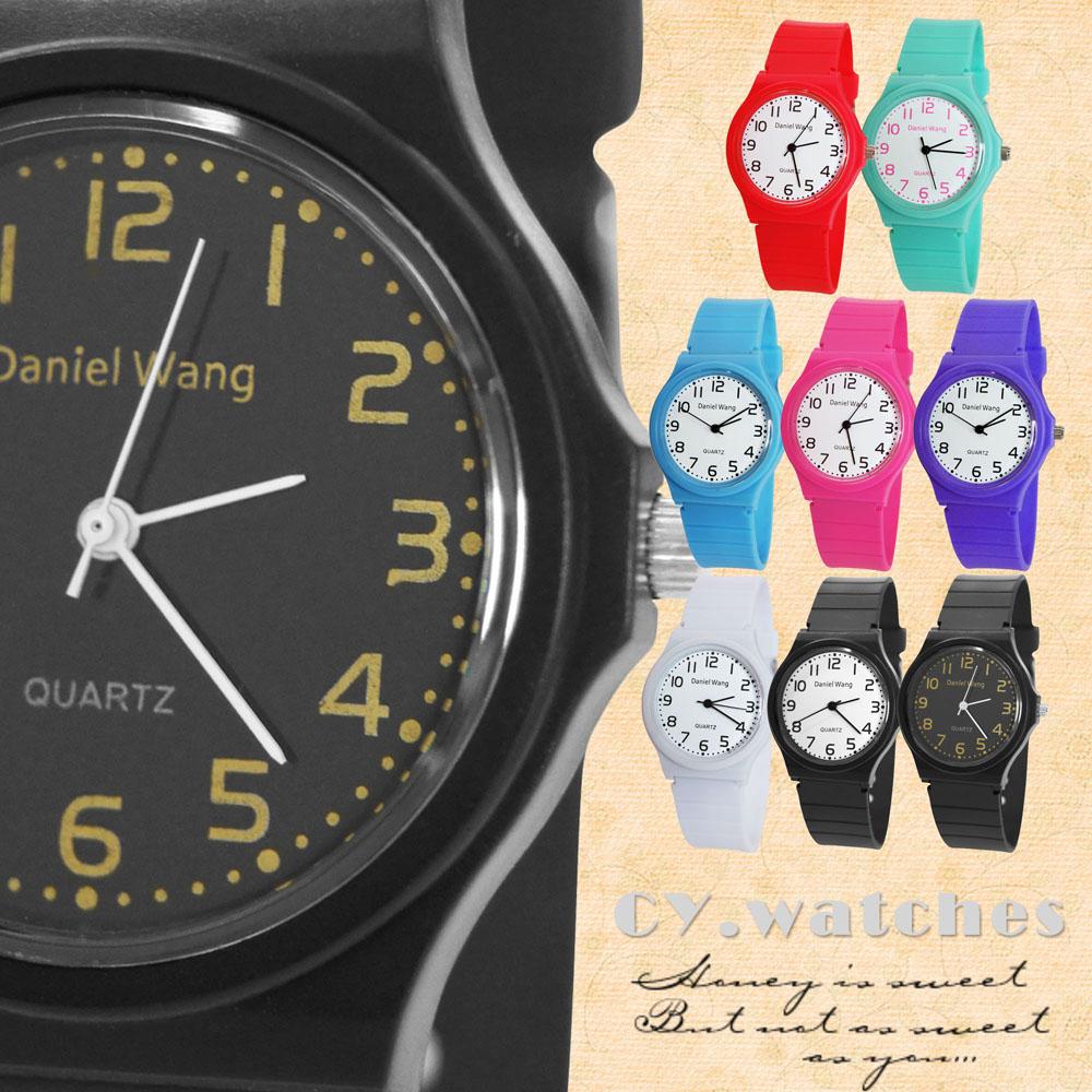 Daniel Wang 4118-日系 馬卡龍輕薄數字學生錶