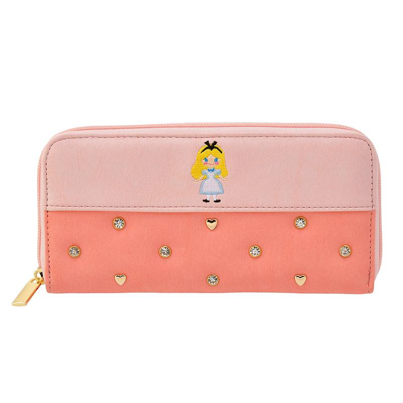 【真愛日本】Tiny皮革長夾-愛麗絲粉   迪士尼 愛麗絲夢遊仙境  專賣店限定  日本帶回
