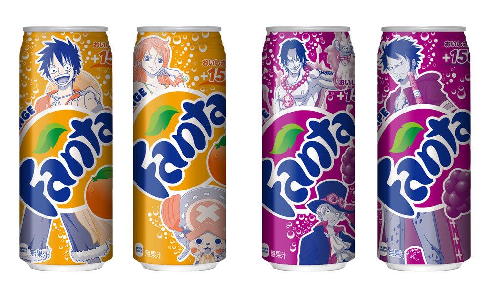 有樂町進口食品 日本 限量發售 可口可樂海賊王版 芬達/葡萄汽水 僅供收藏 勿食