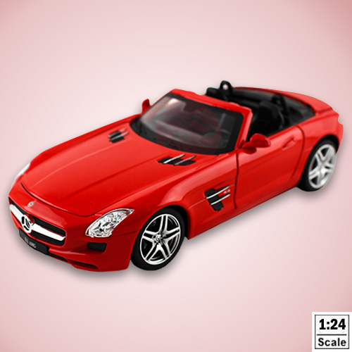 【瑪琍歐玩具】1:24授權合金車Mercedes-Benz SLS敞篷版