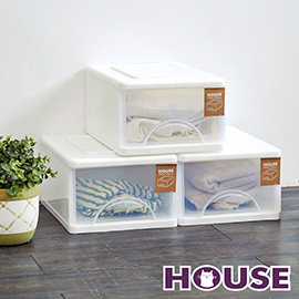【nicegoods】小純白單層收納櫃(單層9L) 3入組(收納櫃 抽屜櫃 衣櫃 塑膠 整理箱)