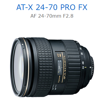 送蔡司拭鏡紙 Tokina AT-X 24-70 PRO FX AF 24-70mm F2.8 立福公司貨